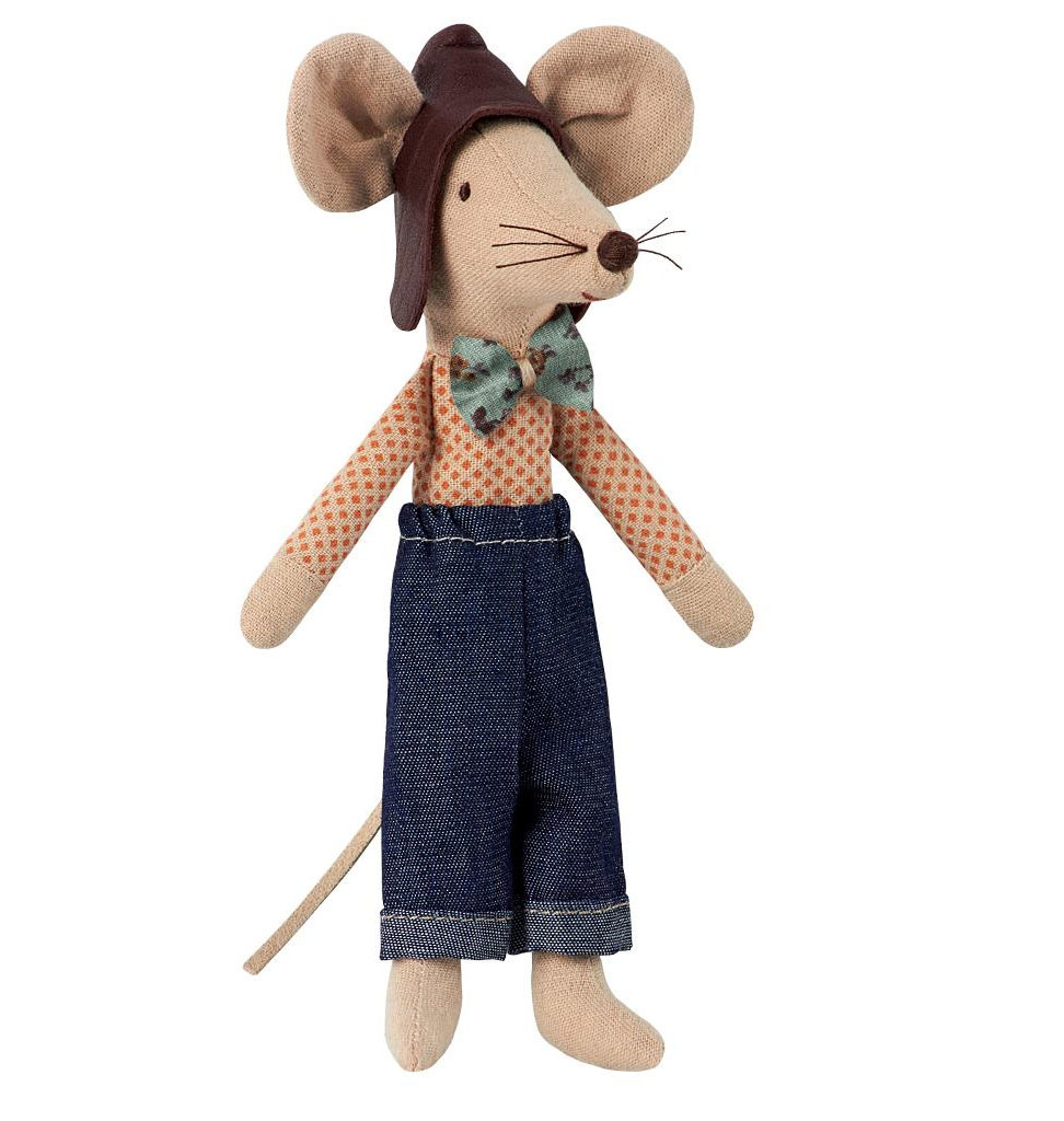 Maileg Maileg racer dad mouse 13 cm