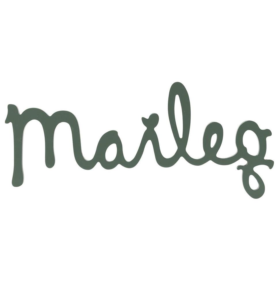 Maileg Maileg wooden logo Dusty green 29.5 cm