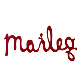 Maileg Maileg houten logo Maileg houten logo rood 29,5 cm