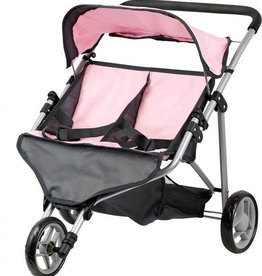 By Astrup   Minimommy / von Astrup Twin Doll Kinderwagen pink