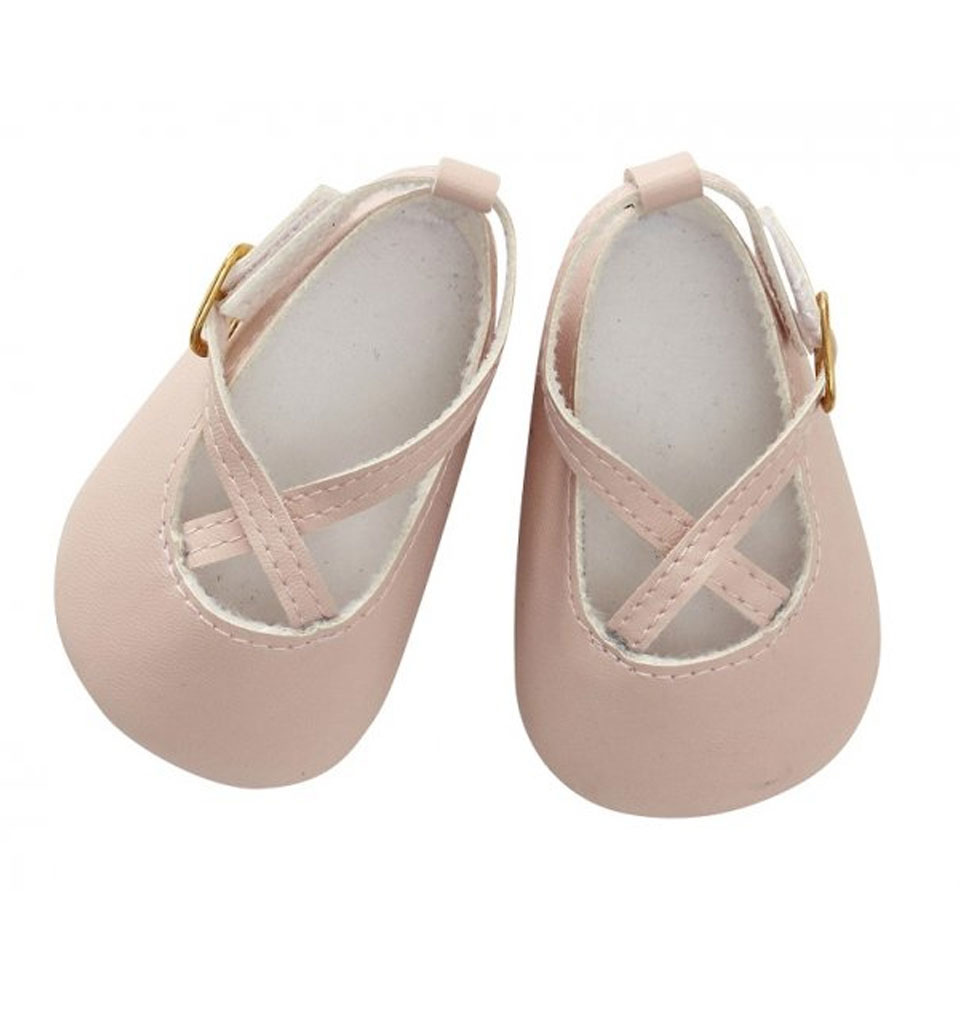 By Astrup / Mini Mommy  ByAstrup pink shoes for Gordi baby doll and dolls from 30-35 cm