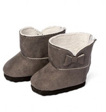 By Astrup / Mini Mommy  ByAstrup gray winter boots for Gordi baby dolls and other dolls from 30-35 cm
