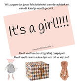 Glückwunschkarte Es ist ein Mädchen