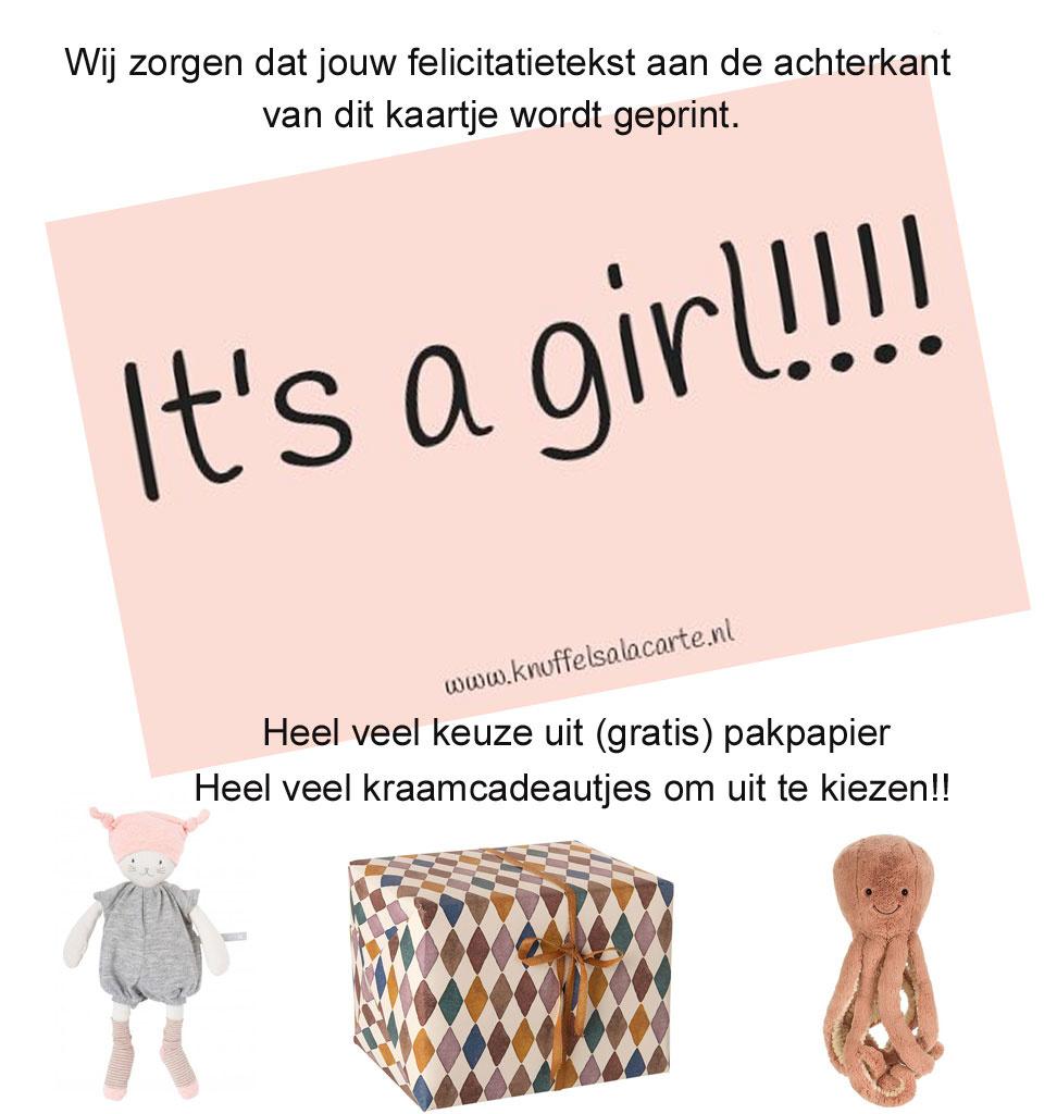 felicitatiekaartje It's a Girl