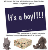 congratulatory card It's a boy