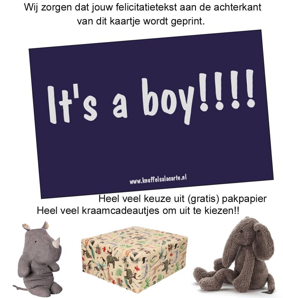 felicitatiekaartje It's a boy