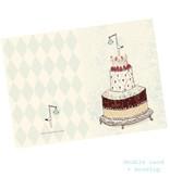 Maileg Maileg birth card boy stork blue + envelope