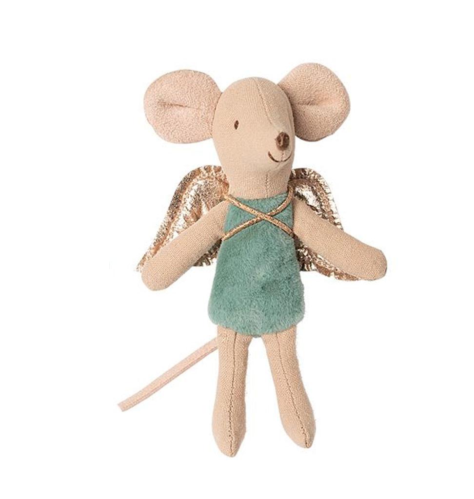 Maileg Maileg fairy muis groen/blauw 10 cm