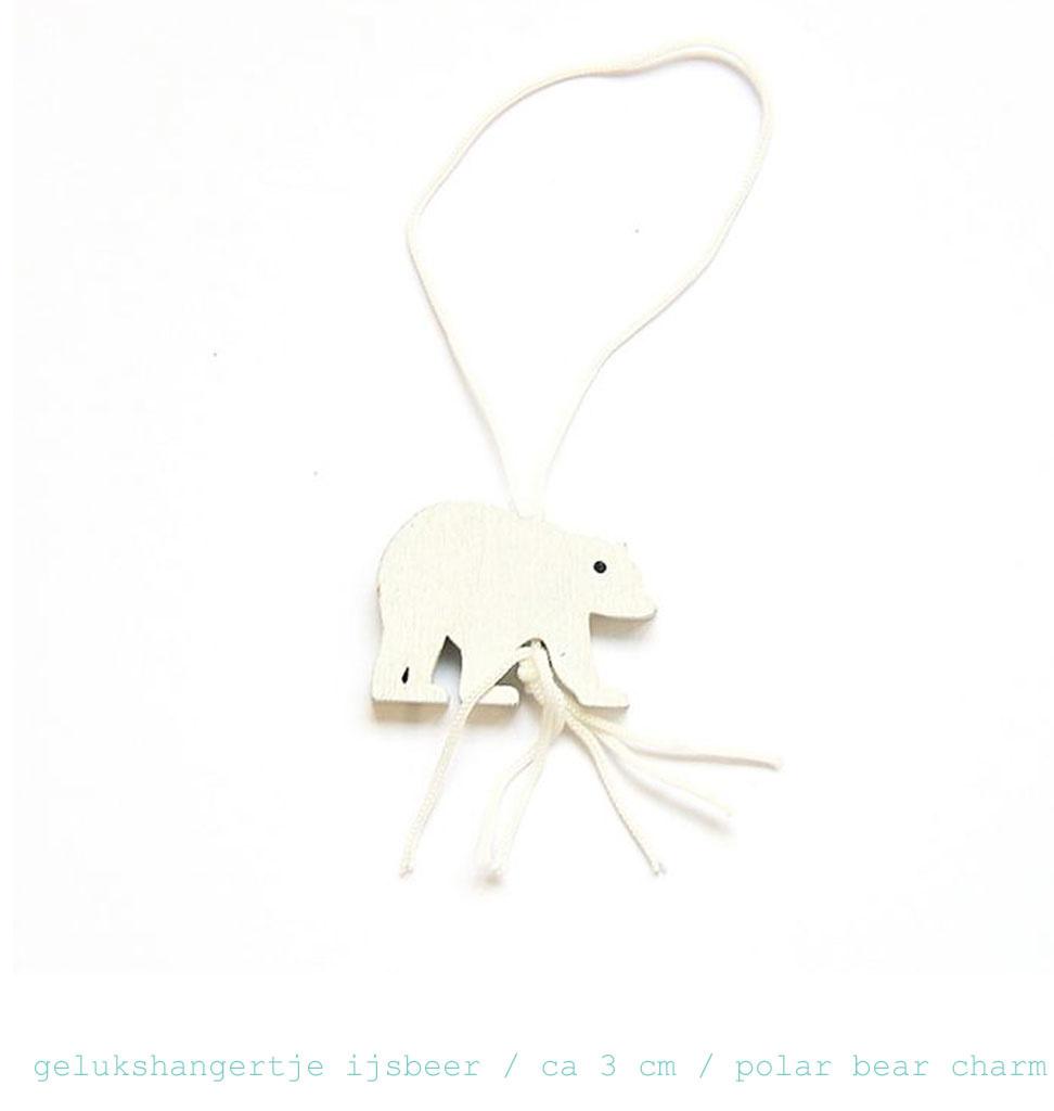 HOP Lucky doll in the shape of a polar bear 3 cm