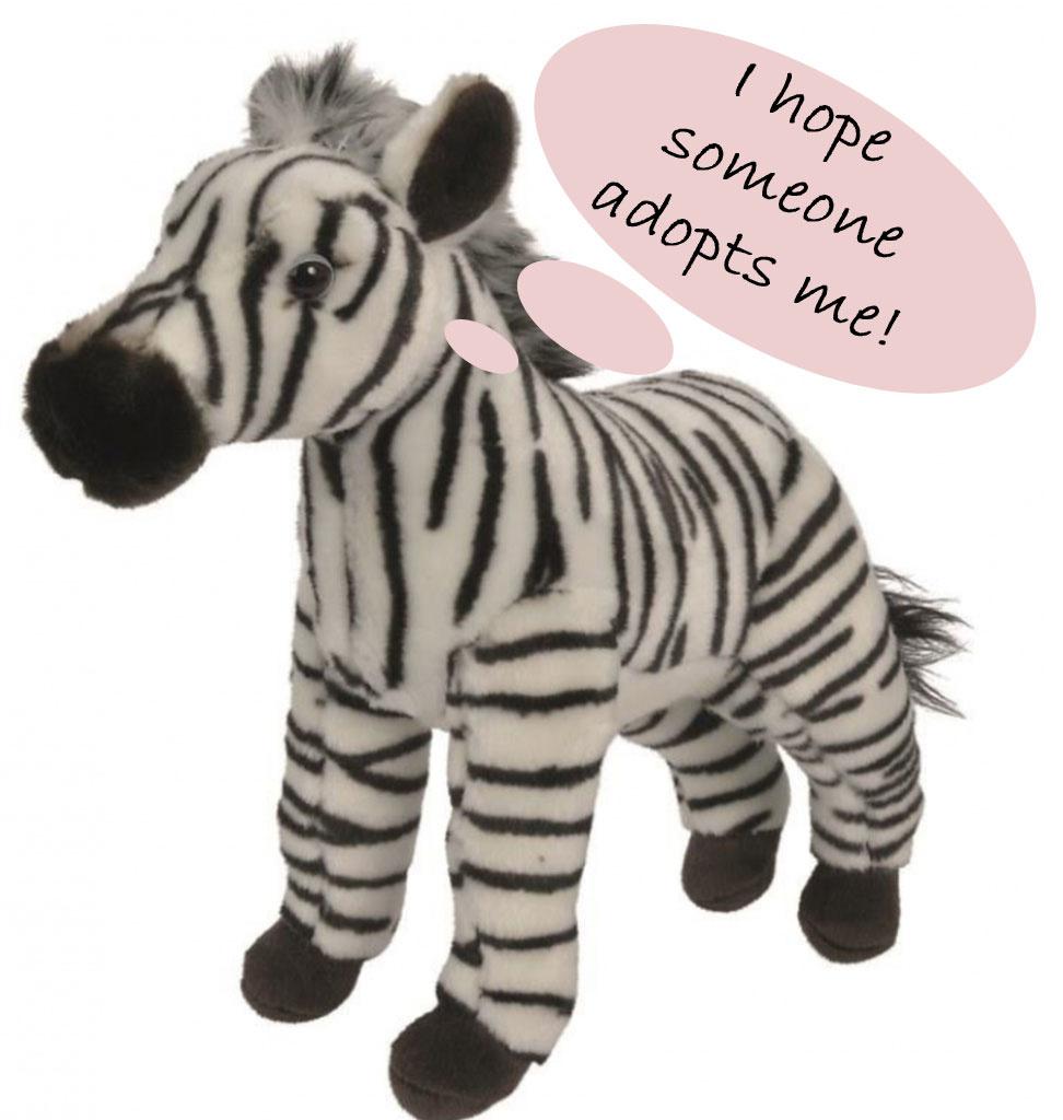 Nicotoy knuffels  Nicotoy zebraknuffel 27 cm