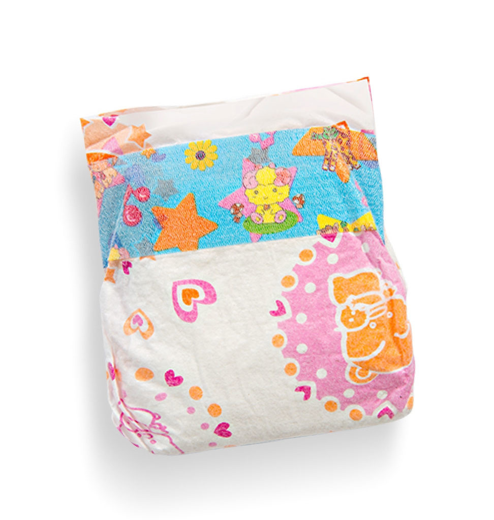 Three diapers for dolls of 28-35 cm