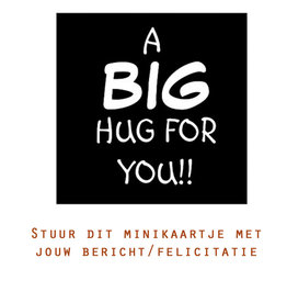 Card 'a big hug for you'