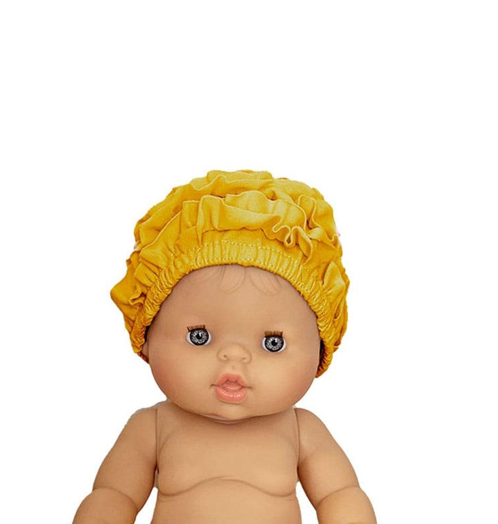Minikane  Minikane badmuts voor Gordi poppen / kleur moutarde