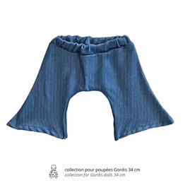 Minikane  Minikane flared jeans gestreept voor Gordi poppen