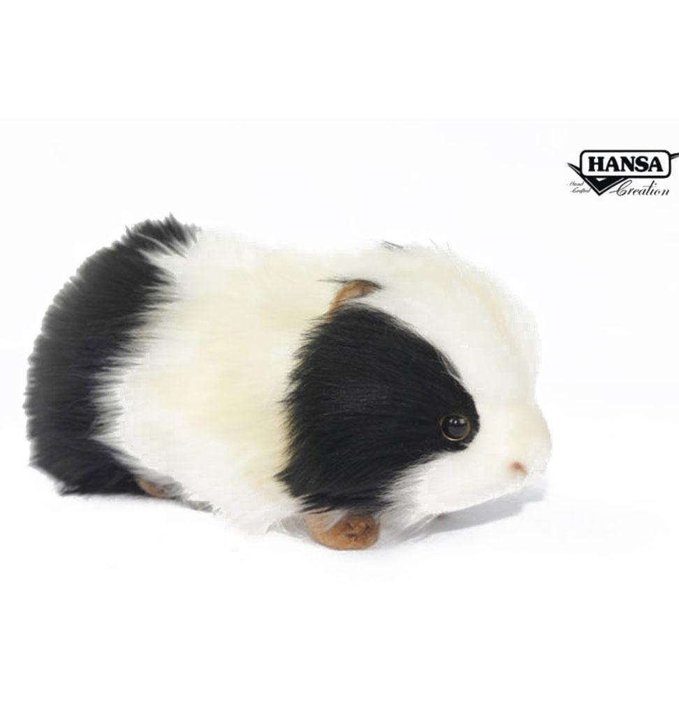 Hansa Meerschweinchen schwarz / weiß 19x9x10 cm