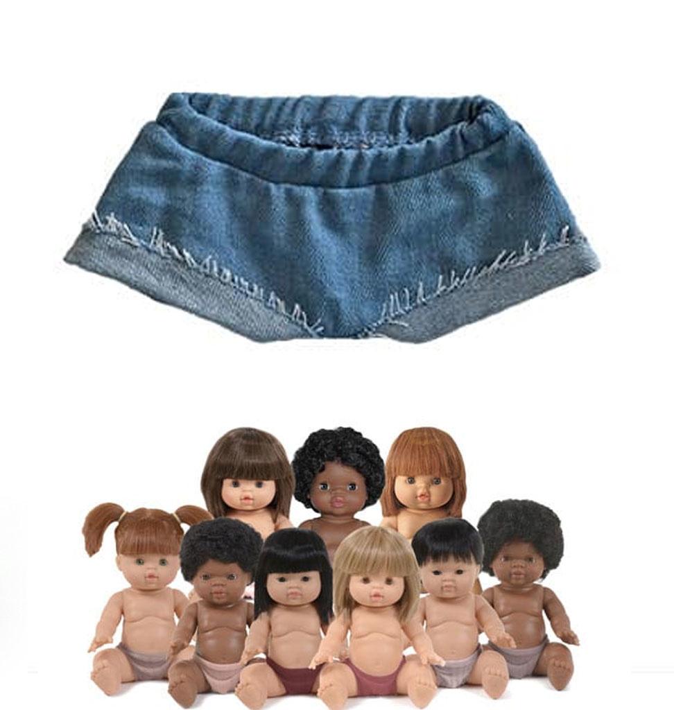 Minikane  Minikane short Emma jeans voor Gordi poppen van Paola Reina