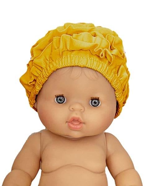Minikane  Minikane Badekappe für Gordi Puppen / Color Moutarde