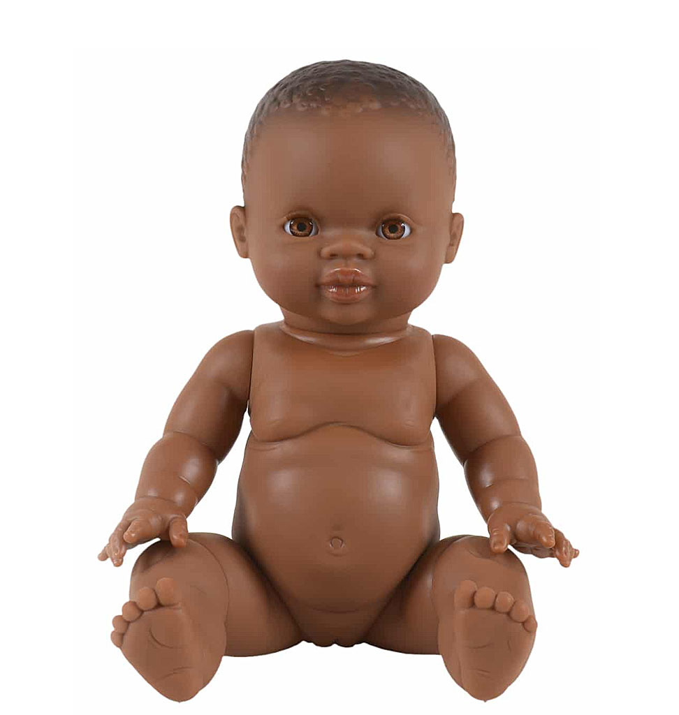 Paola Reina poppen Paola Reina baby doll brown girl 34 cm