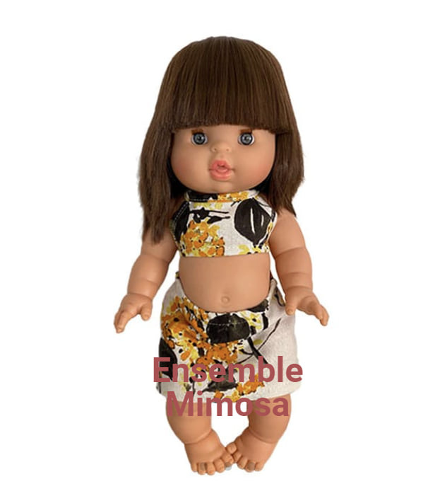 Minikane  Zweiteiliges Minikane-Mimosenensemble für Gordi-Puppen von Paola Reina