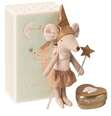 Maileg Tooth fairy mouse Big Sister in box with golden storage box