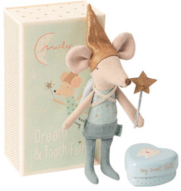 Maileg Tooth fairy mouse Big Borther in box with tooth box   - Copy