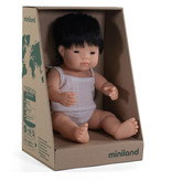 Miniland poppen Miniland doll Asian boy with underwear 38 cm