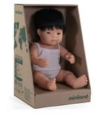 Miniland poppen Miniland Puppe Asiatischer Junge mit Unterwäsche 38 cm