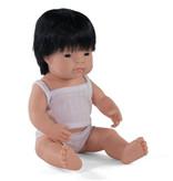 Miniland poppen Miniland pop Aziatische jongen met ondergoed 38 cm