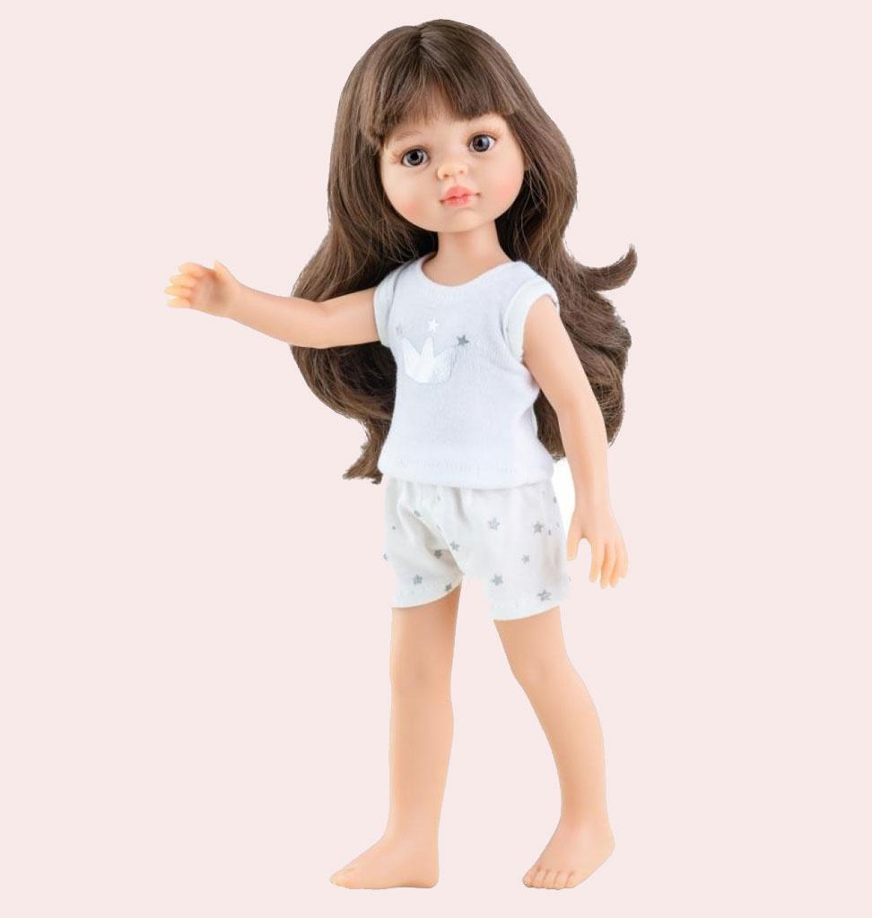 Paola Reina poppen Paola Reina Amigas Puppe Carol mit Pyjama 32 cm