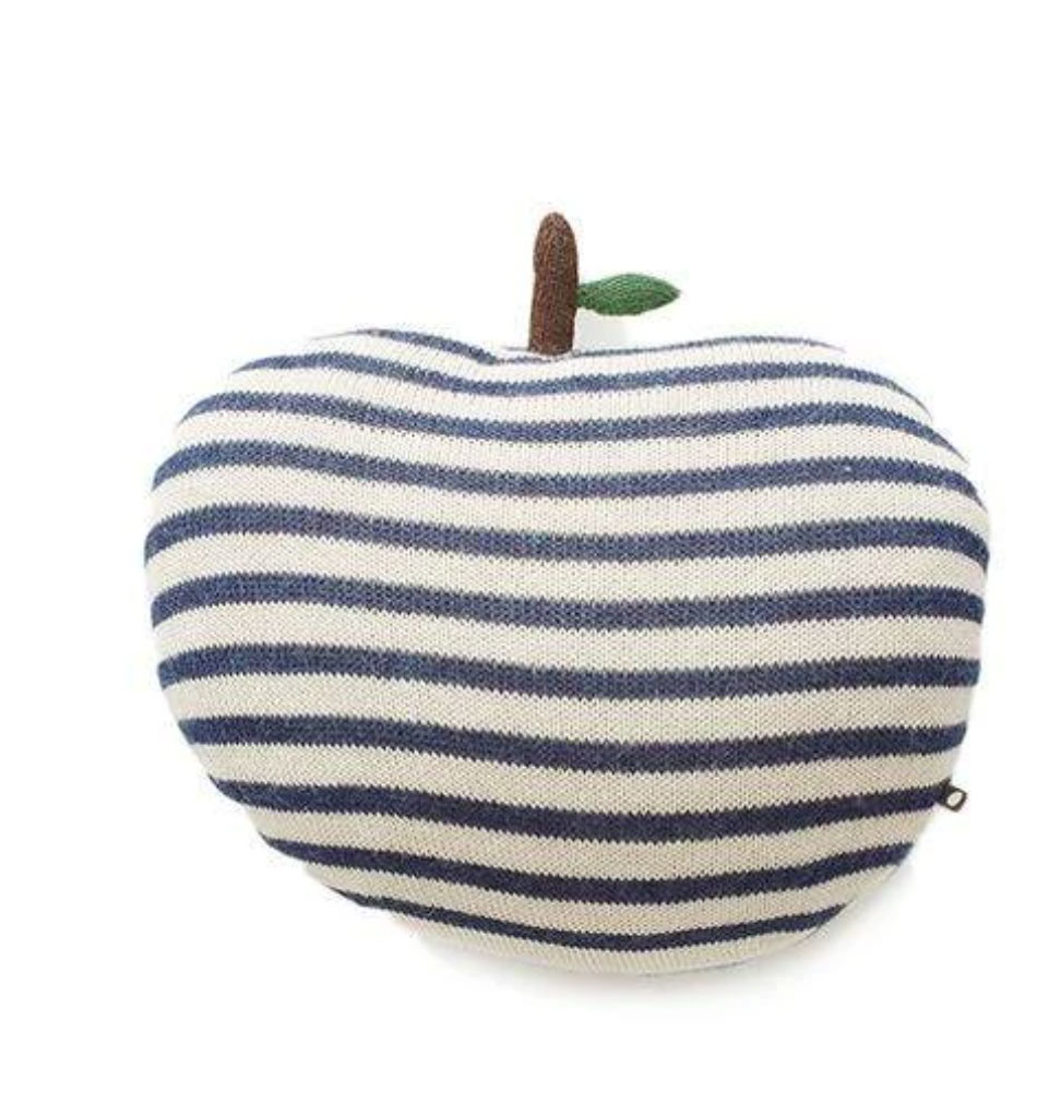 Oeuf NYC Groot Oeuf NYC gestreept appelkussen 46 cm