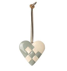 Maileg Maileg Anhänger Herz aus Metall blau grün