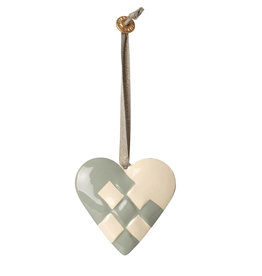 Maileg Maileg pendant heart of metal blue green