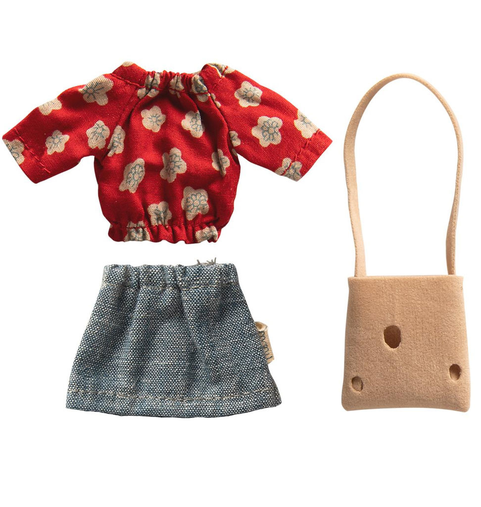 Maileg Maileg clothing set with bag for mother mouse