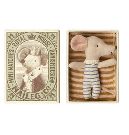 Maileg Sleepy Wakey Baby-Maus Jungen in Box