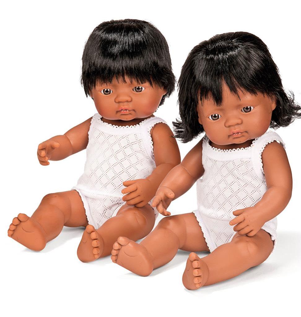 Miniland poppen Miniland doll girl Latin American girl 38 cm