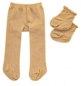Heless Maillot en sokken  goud glitter voor o.a. de Gordi poppen
