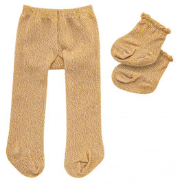 Heless Tights and socks with gold glitter for the Gordi dolls