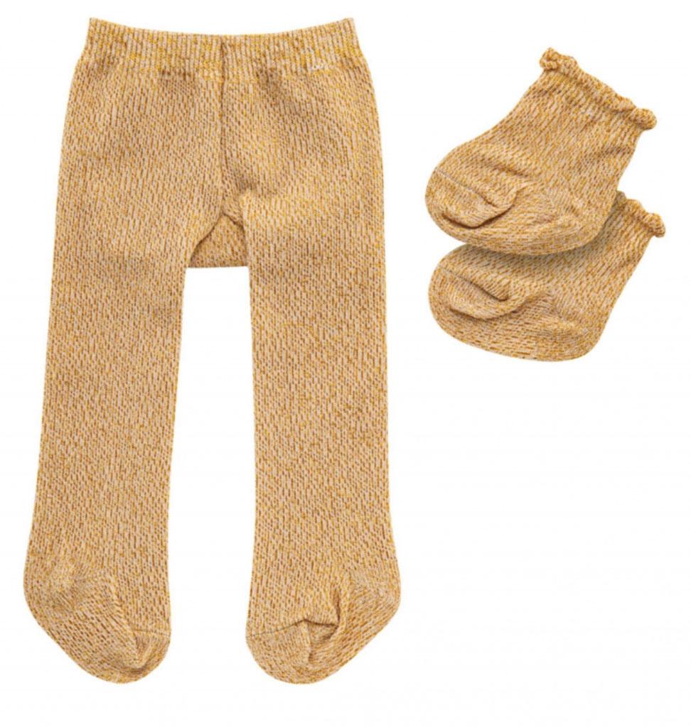 Heless Maillot en sokken  goud glitter van Heless voor poppen van 28-35 cm