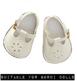 By Astrup / Mini Mommy  ByAstrup cream shoes for Gordi dolls from Paola Reina