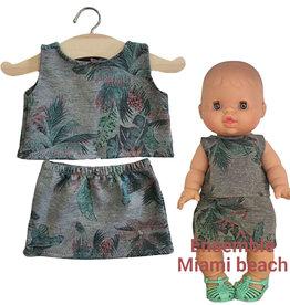 Minikane  Minikane ensemble Miami beach voor Gordi poppen