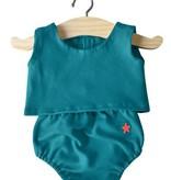 Minikane  Minikane ensemble Sacha bleu petrol for Gordi dolls by Paola Reina