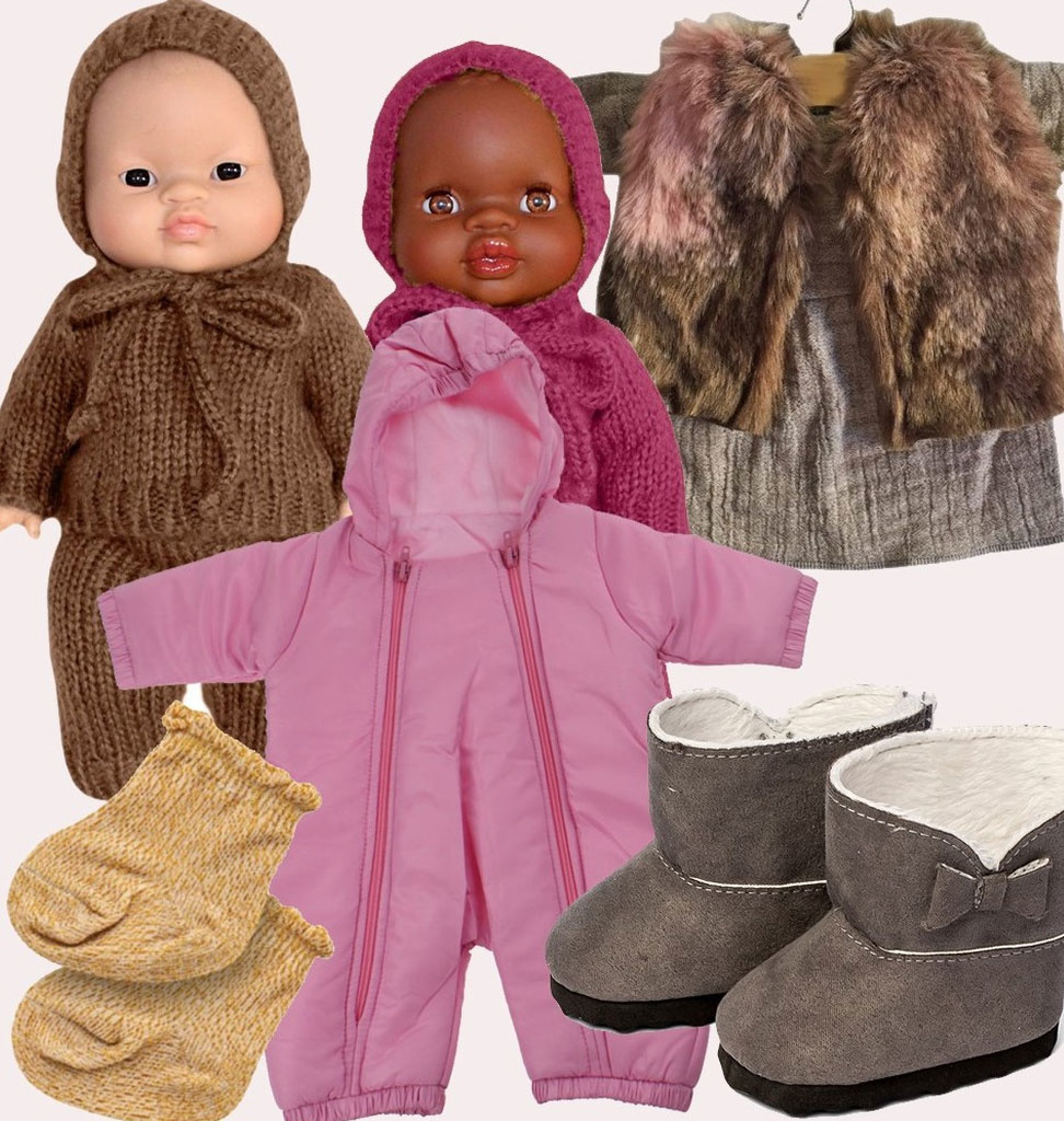 By Astrup / Mini Mommy  Minimommy snowsuit pink for Gordi dolls