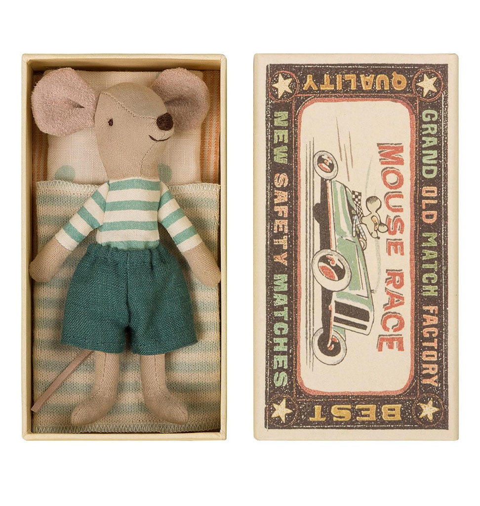 Maileg Maileg Big Brother mouse in matchbox with bedding
