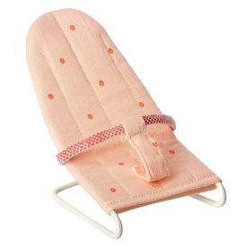 Maileg Maileg babyzitje / wipstoeltje micro roze met stippen