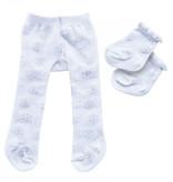 Heless Heless Strumpfhosen und Socken weiß mit Eiskristall für Gordi Puppen