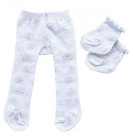 Heless Heless maillot en sokken wit met ijskristal