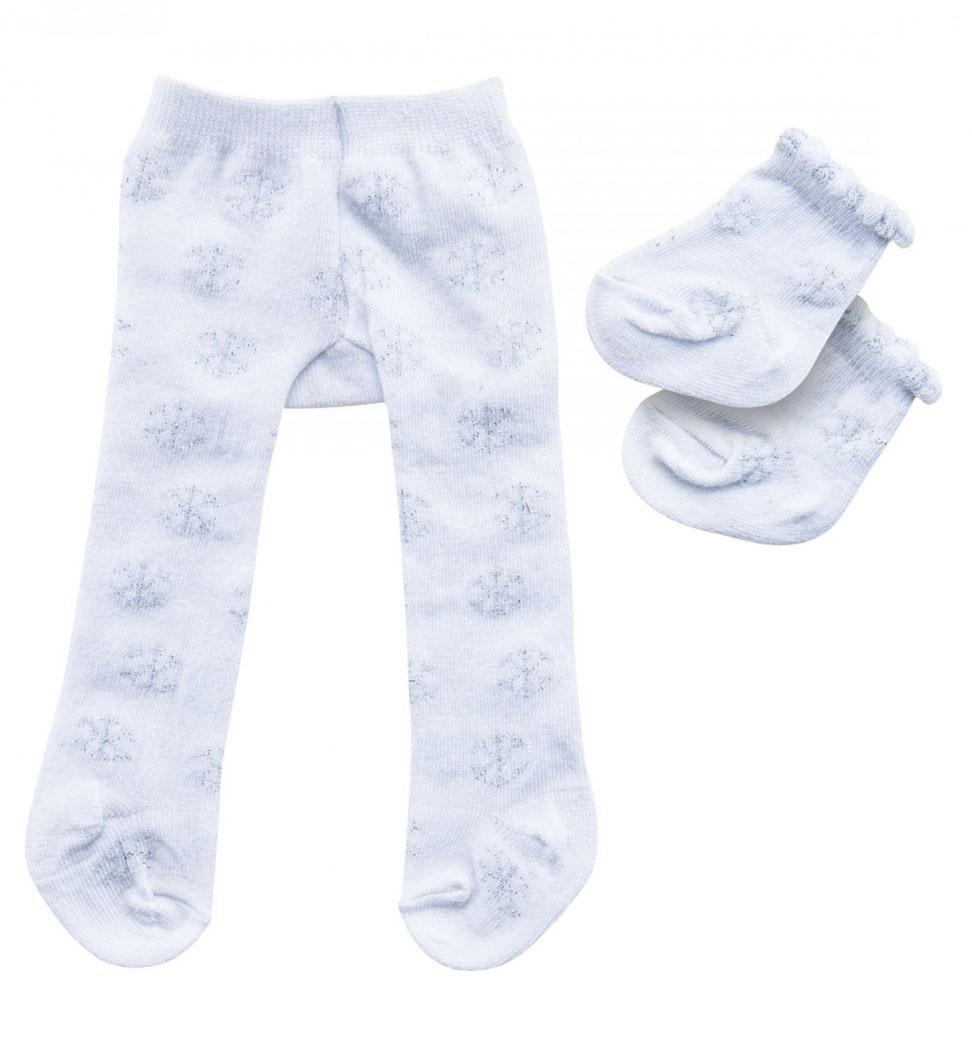 Heless Heless maillot en sokken wit met ijskristal voor Gordi poppen