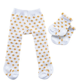 Heless Heless tights and socks white with golden dots