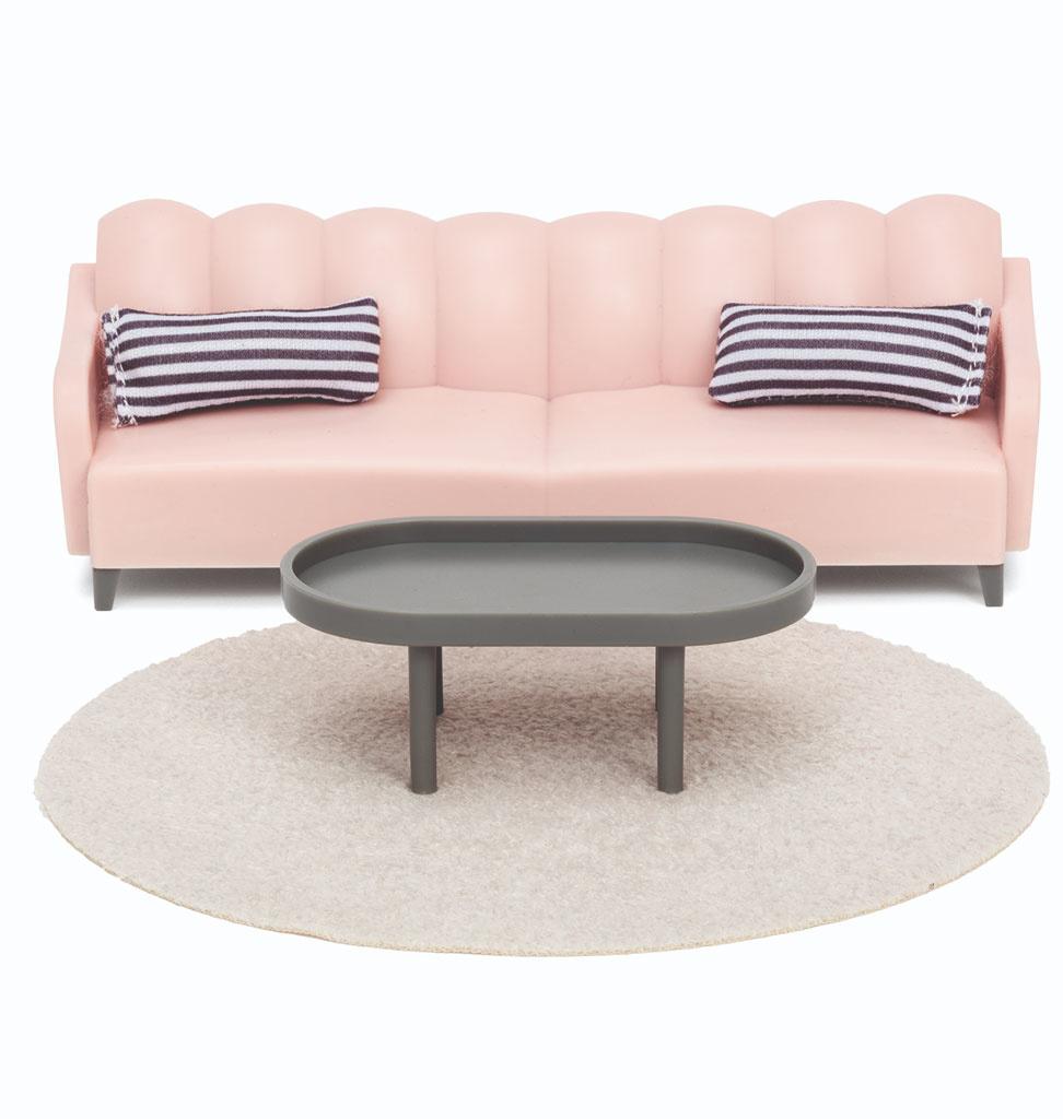 Lundby Lundby Basic Wohnzimmer Set / skandinavischen Stil