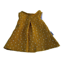 Hollie Dress for Gordi dolls from Hollie / color ocher yellow with dots